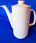 Johnson Brothers Athena White Ribbed Ironstone Coffee Pot Five Cup Capacity