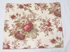 Waverly Norfolk Rose Mulberry Cabbage Rose Floral 76 x 15 Valances (Set of 2)