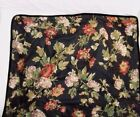 Waverly Harbor Square Multi Floral 3-Piece Twin Comforter Sham and Pillow, Black