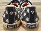 Keds Kate Spade Blue Plaid Checker Sneaker Size 8 Limited Edition Excellent