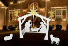 NATIVITY SET INDOOR OUTDOOR LARGE SCALE BEST QUALITY BEST VALUE HOLIDAY SALE