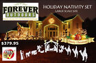 OUTDOOR NATIVITY SCENE CHRISTMAS LARGE WHITE HOME CHURCH YARD DECORATION SET