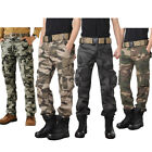 USA Military Mens Cotton Cargo Pants Combat Camouflage Camo Army Style Trousers