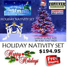 OUTDOOR NATIVITY SCENE LARGE CHRISTMAS YARD DECORATION AMERICAS 1 HOLIDAY SALE