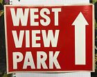 Pittsburgh West View Park amusment park Vinyl Sticky Back Directional Sign