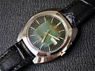 NOS Ricoh vintage automatic watch, green dial, new old stock