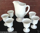 Indiana Colony Milk Glass Opaque White Harvest Grape Footed Pitcher