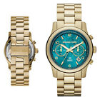New Michael Kors MK5815 Women's Stop Hunger Limited Edition Gold Chrono Watch