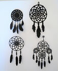 Dream catcher Intricate Paper Die Cut Embellishments scrapbooking 4 pc Black