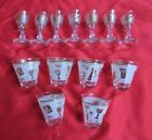 footed shot glasses bar set