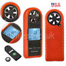 Digital LCD Anemometer Wind Speed Air Flow Velocity Meter Tester Thermometer US