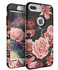 TIANLI Apple iPhone 7 Plus Case Cute Flowers for Girls Women Smooth Surface T