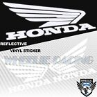 GAS FUEL TANK FAIRING DECAL REFLECTIVE WING LOGO VINYL STICKER FOR HONDA WHITE