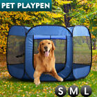 8 Panel Pet Dog Playpen Exercise Cage Puppy Enclosure Fence Play Pen Tent Blue