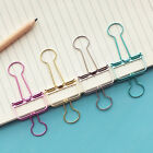 Cute Colorful Pierced Metal Binder Paper Clips Office Learning Office New