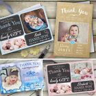 New Baby Thank You Cards Personalised Birth Announcement Girl Boy