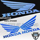 GAS FUEL TANK FAIRING DECAL REFLECTIVE WING LOGO VINYL STICKER FOR HONDA BLUE