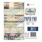 Prima Marketing Double Sided Paper Pad 6X6 30 Pkg St Tropez NEW
