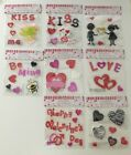 Valentine Window Gel Cling Stickers Style Variations