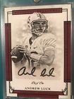 Andrew Luck One Of One Autograph 2017 National Treasures *REAL 1 1- True 1 1
