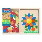 Melissa Doug Pattern Blocks and Boards kids educational Toy With 120 Wood Shape