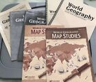 World Geography homeschooling Abeka Textbooks Quizzes Test and Map Studies