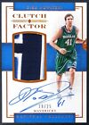 2016-17 National Treasures Clutch Factor Bronze Dirk Nowitzki AUTO PATCH 19 25