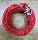3 8 x 85 ftRuby Red Wh Dacron Polyester Halyard Spliced in S S Snap Shackle