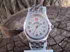 Men's Swiss Military Watch 59049 Luminous Markers Stainless Steel Very Clean