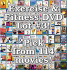 Exercise  Fitness DVD Lot 3 114 Movies to Pick From Buy Multiple And Save