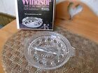 Federal Glass Windsor Crystal In Box 8 1/2 inch Divided Relish Plate EVC