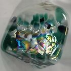 VINTAGE IRIDESCENT CALIFORNIA STUDIO ART GLASS Angle Perfume Bottle with Sticker