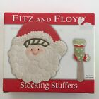 Fitz and Floyd Santa Snack Plate Stocking Spreader Stocking Stuffers 2007