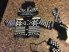 Black and Ivory Knit Woolens Set for American Girl Dolls