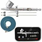 New MASTER PRO Dual Action Gravity Feed AIRBRUSH KIT SET w 3 TIPS Fine Detail