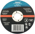 Genuine DRAPER 115 x 22.2 x 2.5mm Flat Metal Cutting Wheel | 31393