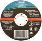 Genuine DRAPER 115 x 22.2 x 2.5mm Flat Stone Cutting Wheel | 31403