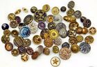 59 Small Metal ANTIQUE Victorian BUTTONS PERFUME Spindle Star Moon