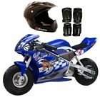 Razor Blue Pocket Rocket With Black Sport Helmet And Pad Set