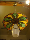 Vtg 60s 45 Hanging Lamp Pendant Light Mid Century Modern Atomic Space Age Swag