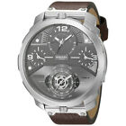 Diesel DZ7360 Machinus Men's 4 Timezone Brown Leather Strap
