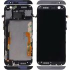 Black For HTC One M8 LCD Display Touch Screen Replacement Digitizer +Frame+Tools