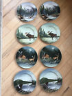Wildlife/nature/camping plates; Northwoods by David Carter Brown; 2 sets of 4