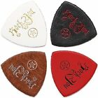 Anwenk Ukulele Picks Leather Bass Soft Genuine Top Grade Multi Color4 Pack