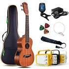 Electric Concert Ukuleles Ukulele With Amp 23 Acoustic Electric Beginner Kit