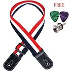 Ukulele Strap Cotton Adjustable With Leather Ends1Strap Buttons Guitar Picks