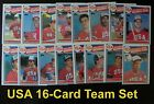 USA OLYMPIC Baseball 1985 Topps 16-Card Team Set from Vendor Boxes
