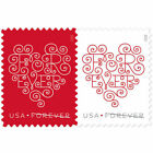 Forever Heart USPS Forever Postage 300 Stamps Wedding Valentine Day Love