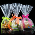 100pcs set Clear Party Gift Chocolate Lolli Favor Candy Cello Bags Cellophane