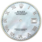 Rolex Mens Datejust Stainless Steel White MOP Mother Of Pearl Roman Numeral Dial